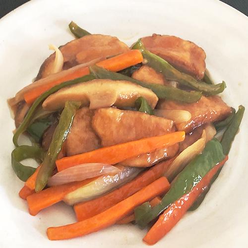 大豆ナゲットの酢豚風