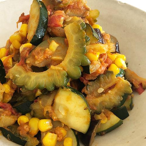 夏野菜のドライカレー