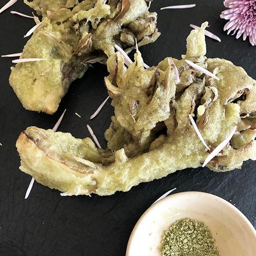 舞茸と菊花の天ぷら