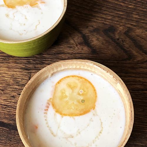 金柑の甘酒デザート