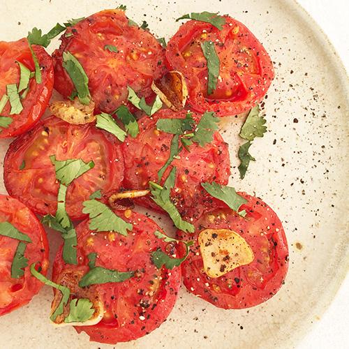 トマトのオリーブオイル焼き